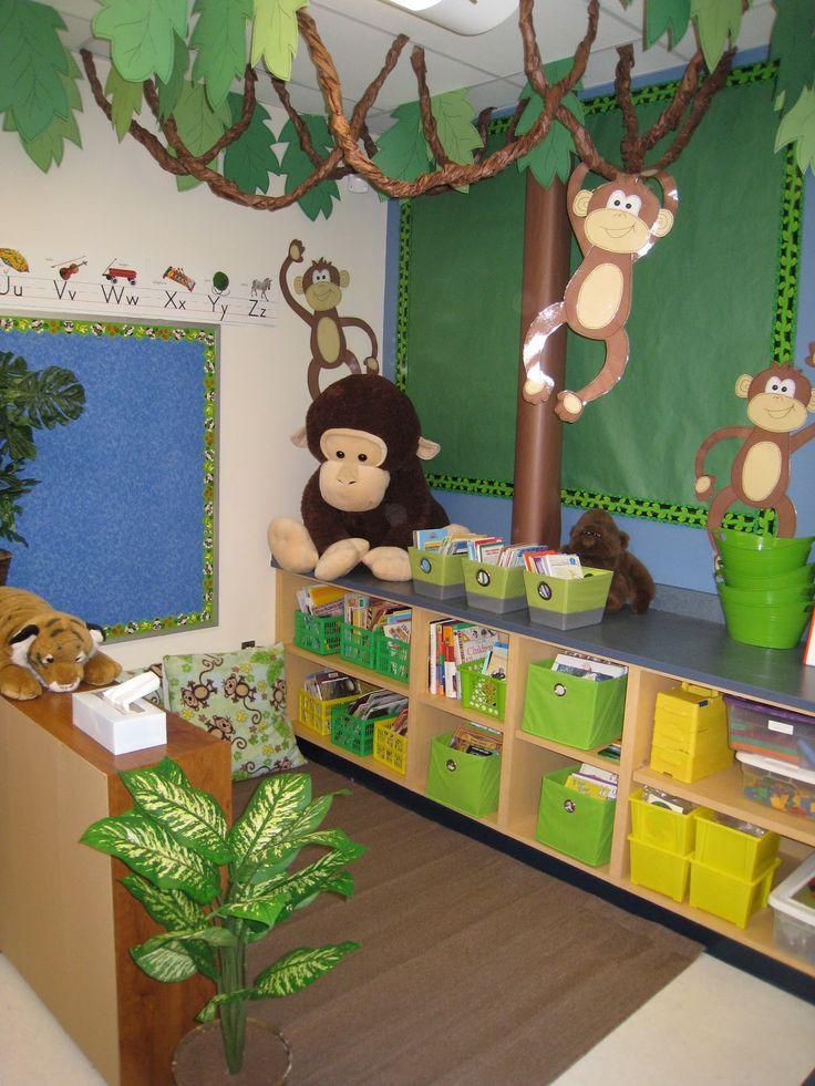 Classroom Decoration Ideas Tree : Decoración de la clase temas mar jungla y super héroes