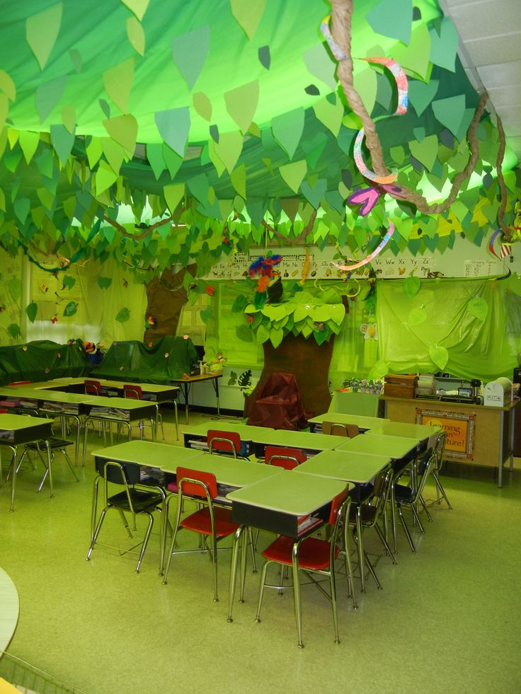Outdoor Classroom Design Ideas ~ Decoración de la clase temas mar jungla y super héroes