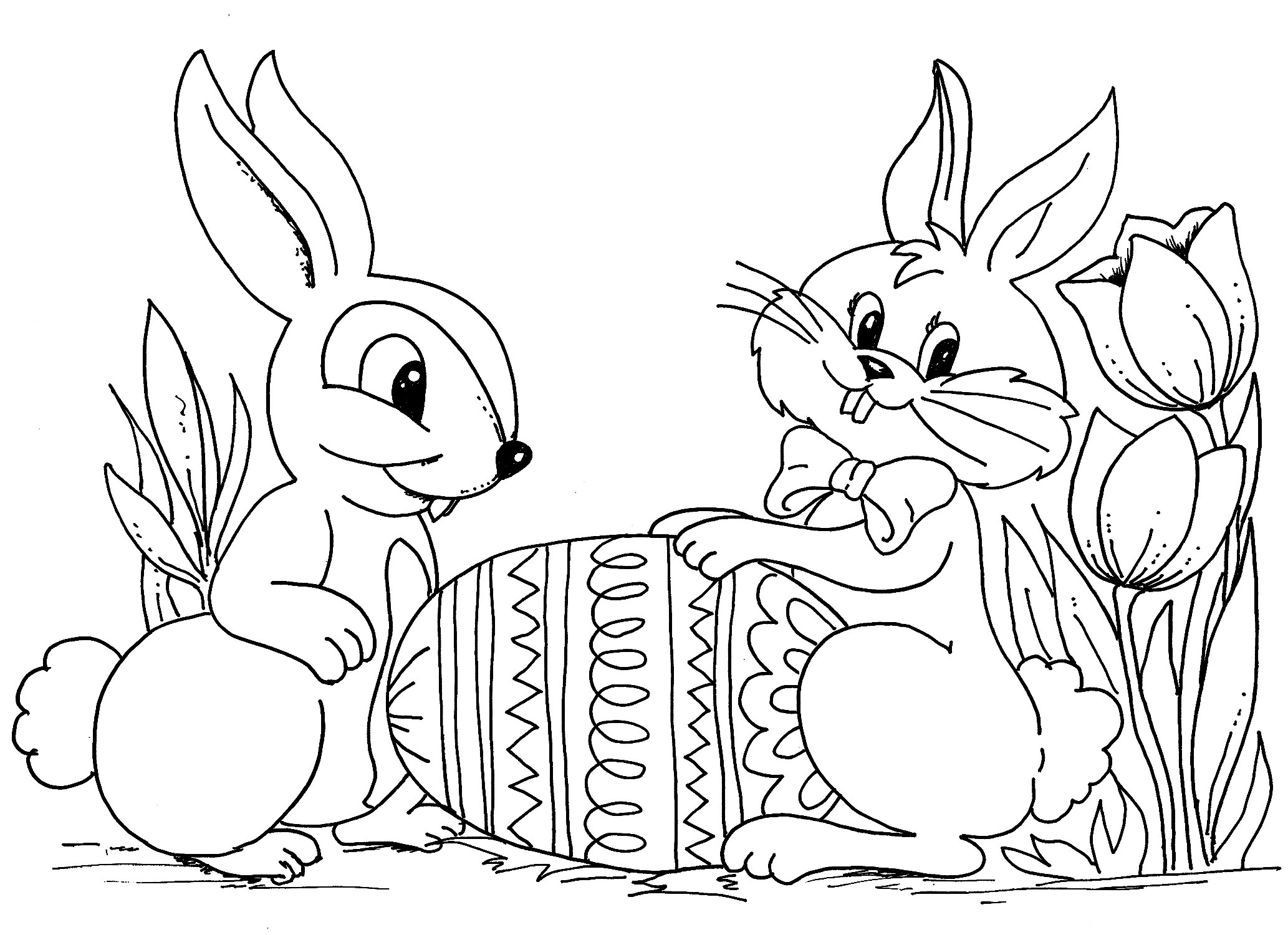 Easter-Rabbit-Coloring-Pages