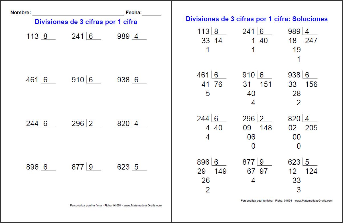 Multiplicación y división. - MaestraTrend