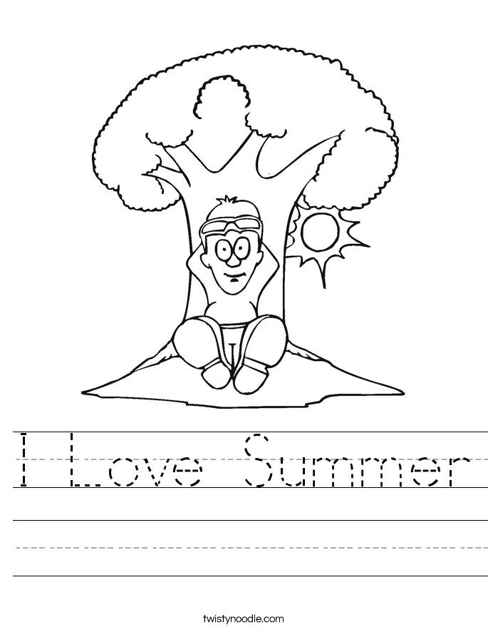 i-love-summer_worksheet